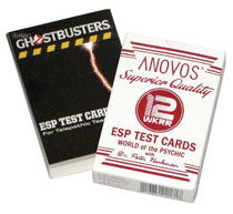 Image: Ghostbusters Dr. Venkman Esp Test Card Game  - Anovos Productions