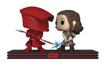 Image: Pop! Star Wars E8 Movie Moment Vinyl Figure: Rey & Praetorian Guard  - Funko