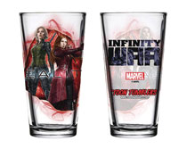 Image: Avengers: Infinity War Pint Glass: Black Widow / Scarlet Witch  - Popfun Merchandising