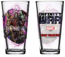 Image: Avengers: Infinity War Pint Glass: Guardians of the Galaxy  - Popfun Merchandising