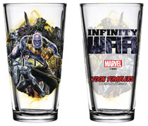 Image: Avengers: Infinity War Pint Glass: Thanos  - Popfun Merchandising
