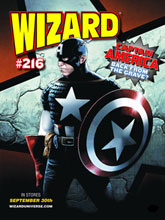 Image: Wizard Magazine #216 (Travis Charest Captain America cover) - Wizard Entertainment