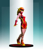 Image: Ame-Comi Heroine-Series PVC Statue: Jesse Quick as the Flash  - DC Direct