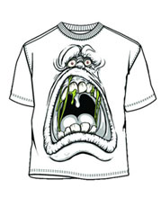 Image: Ghostbusters: Slime Face PX White GiD T-Shirt  (L) -