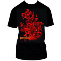 Image: Kingdom Hearts Cover in Red PX Black T-Shirt  (S) -