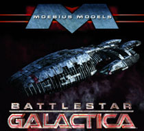 Image: Battlestar Galactica 1:4105 Scale All Plastic Asssembly Model Kit  -