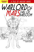 Image: Warlord of Mars: Fall of Barsoom #3 (15-copy Jusko B&W incentive cover) (v15) - D. E./Dynamite Entertainment
