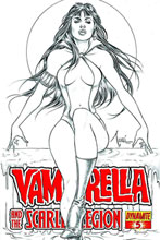 Image: Vampirella: Scarlet Legion #5 (10-copy Tucci B&W incentive cover) (v10) - D. E./Dynamite Entertainment