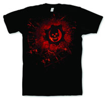 Image: Gears of War 3: Distressed Skull T-Shirt [brown]  (L) -