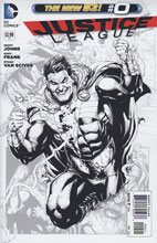 Image: Justice League #0 (B&W variant cover) - DC Comics