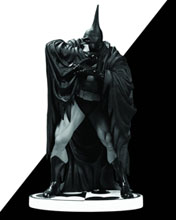 Image: Batman Black & White Statue: Batman by Kelley Jones  (V2) - DC Direct