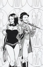 Image: Steed and Mrs. Peel #1 (15-copy Perkins B&W variant - cover D) (v15) - Boom! Studios