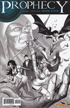 Image: Prophecy #4 (25-copy Renaud B&W variant cover) - D. E./Dynamite Entertainment