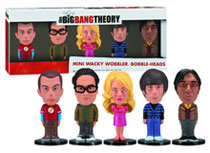 Image: Big Bank Theory 5-Piece Mini Wacky Wobbler Bobble-Heads  - Big Bang Theory
