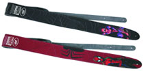 Image: Guitar Strap Spider-Man  (Black Leather) -