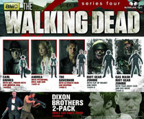 Image: Walking Dead Series 4 Deluxe Action Figure 2-Pack: Daryl & Merle Dixon