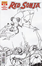 Image: Red Sonja #3 (25-copy Guerra B&W incentive cover) - Dynamite