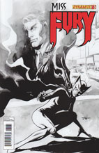 Image: Miss Fury #6 (25-copy Tan B&W incentive cover) - Dynamite