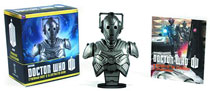 Image: Doctor Who Cyberman Bust & Illustrated Book Kit  - Running Press