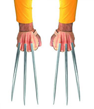 Image: Wolverine Deluxe Claws Adult  -