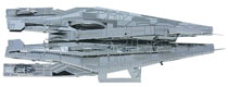 Image: Mass Effect 3D Laser-Cut Model: Alliance Cruiser  - Dark Horse Comics
