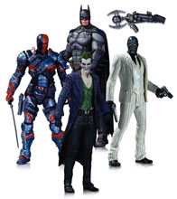 Image: Batman: Arkham Origins Action Figure 4-Pack: Batman, Joker, Black Mask & Deathstroke  - DC Comics