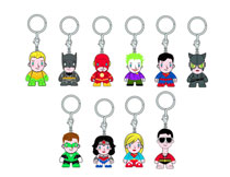 Image: DC Universe Keychain 24-Piece Blind Mystery Box Display  -