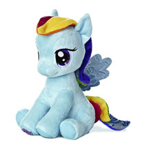 Image: Aurora My Little Pony Sitting Plush: Rainbow Dash  (10-inch) -