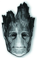 Image: Guardians of the Galaxy Pewter Lapel Pin: Groot Head  -