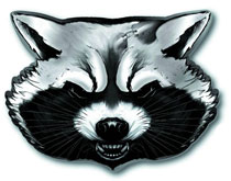 Image: Guardians of the Galaxy Pewter Lapel Pin: Rocket Raccoon Head  -