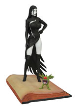 Image: Femme Fatales Tarot, Witch of the Black Rose PVC Statue: 15th Anniversary Raven Hex  -