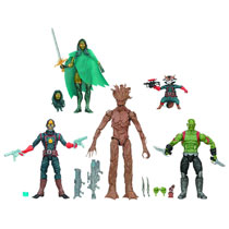 Image: Guardians of the Galaxy Legends Action Figure Box Set  (6-Inch) -