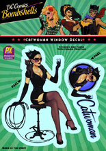 Image: DC Bombshells Window Decal: Catwoman  -