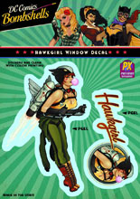 Image: DC Bombshells Window Decal: Hawkgirl  -