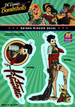 Image: DC Bombshells Window Decal: Katana  -