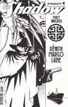 Image: Shadow: The Death of Margo Lane #4 (cover B - B&W) (10-copy)  [2016] - Dynamite