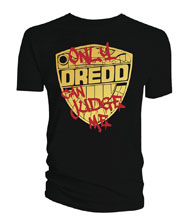 Image: 2000 A.D. Judge Dredd Only Dredd Can Judge Me T-Shirt [Black]  (L) - Titan Books Uk