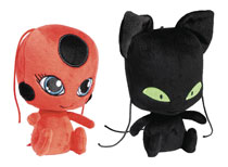 Image: Miraculous Ladybug 6-inch Plush Assortment  - Bandai America