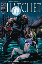 Image: Hatchet #1 (variant cover - Larocque Full Moon) - American Mythology Productions