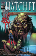 Image: Hatchet #1 (variant cover - Hasson Hand of Horror) - American Mythology Productions