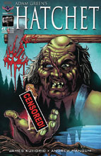 Image: Hatchet #1 (variant cover - Rated MR for Horror) - American Mythology Productions