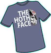 Image: Hoth Face T-Shirt  (XL) - Antarctic Press