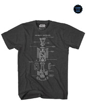 Image: Star Wars T-Shirt: Saber Cut Away [Black]  (XXL) - Mad Engine