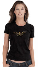 Image: Wonder Woman Women's T-Shirt: Fade Symbol  (S) - Graphitti Designs