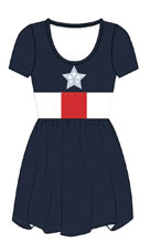 Image: Marvel Dress: Captain America [Navy]  (M) - Mighty Fine
