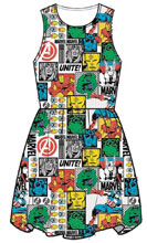 Image: Marvel Dress: Comic Pop! [White]  (XL) - Mighty Fine
