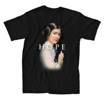 Image: Star Wars T-Shirt: Princess Leia Classic [Black]  (S) - Mighty Fine