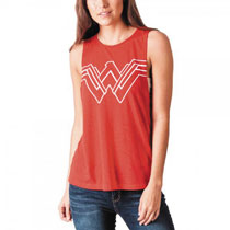 Image: DC Movie Wonder Woman Juniors: Cut-Out Tank [Red]  (S) - Bioworld Merchandising