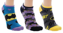 Image: DC Ankle Socks: Batman  (3-Pack) - Bioworld Merchandising