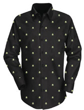 Image: Predator Button Up Shirt: Dark Woven  (L) - The Forecast Agency